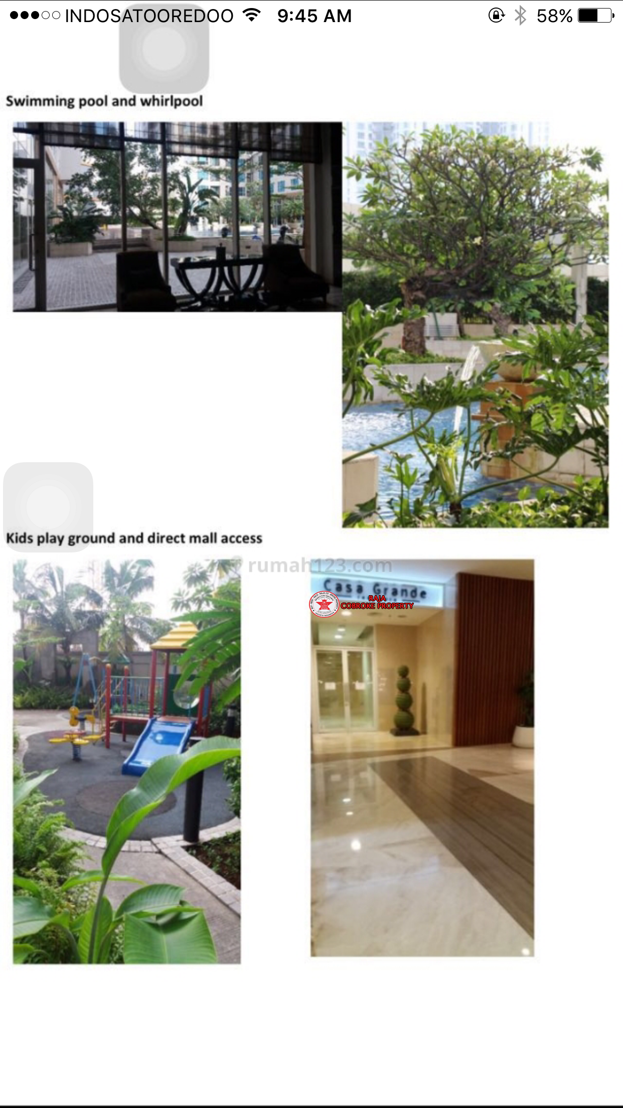 Apartemen Casagrande Second baru bisa KPR /KPA mirage 2 BR terbatas langkah jarang ada top no 1