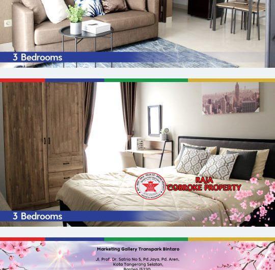 Dijual Promo special studio 2 BR 3 BR Transpark Super duper keren Bintaro